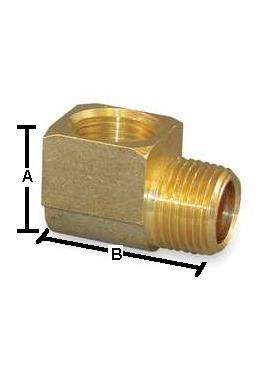 Brass 90 Degree Street Elbow – BAR STOCK Female x Male 1/4 NPT