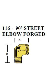 Brass 90 Degree Street Elbow – FORGED Female x Male 1/8 NPT