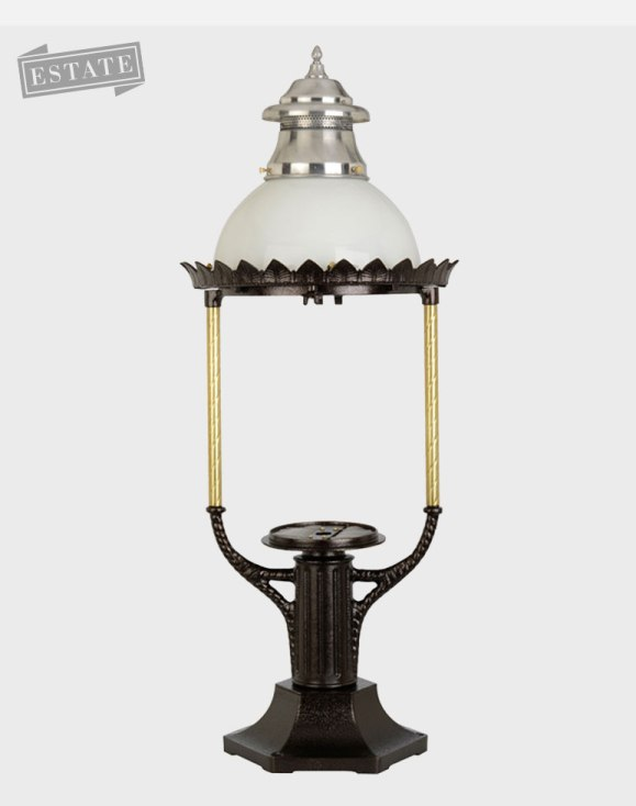 Boulevard Model 3600 - Estate Series Pier Mount Gas or Electric Lamp