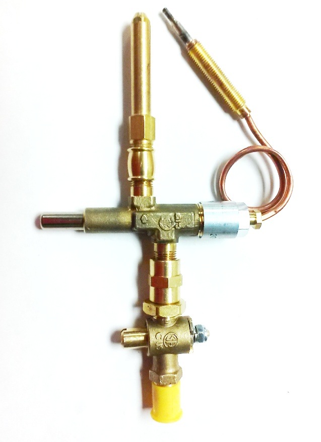 "2.25"" Brass Open Flame Burner w/Safety Shut-off & VLVCT Valve"
