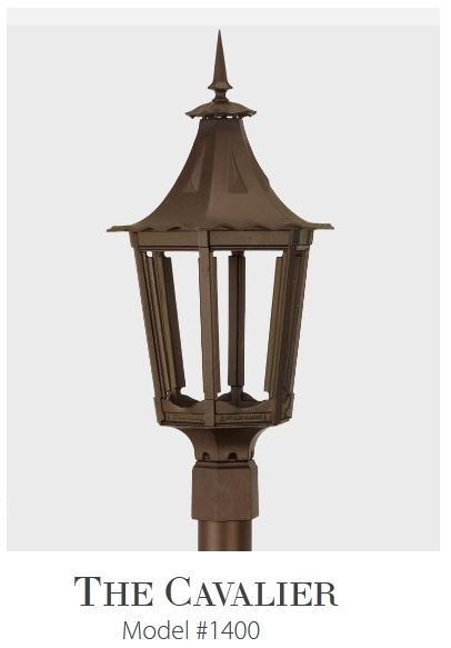 Cavalier -  Residential Series Cast Aluminum Gas or Electric Lantern