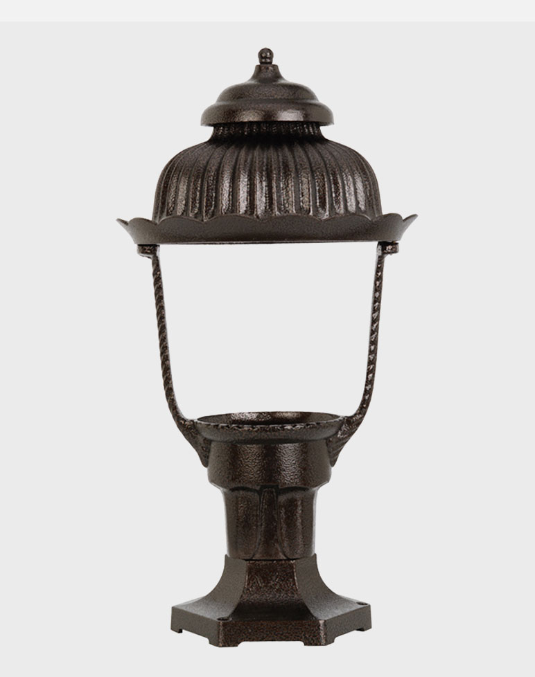 Heritage Model 1700 - Residential Series Pier Mount Gas or Electric Lamp