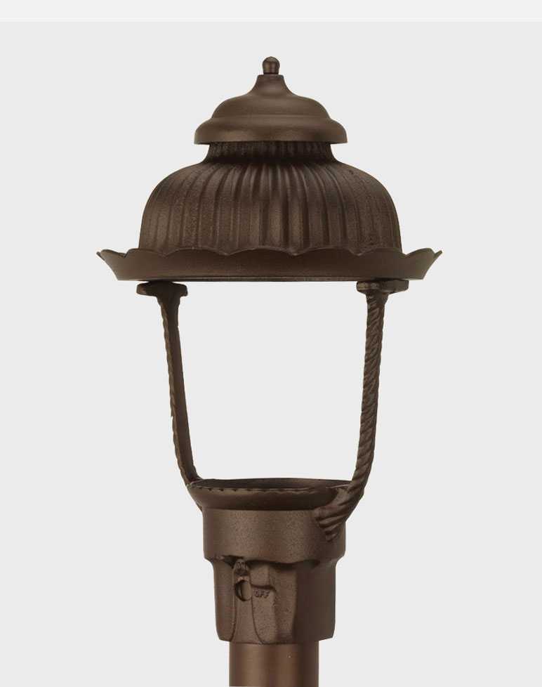 Heritage Model 1700 - Residential Series Post Mount Gas or Electric Lamp