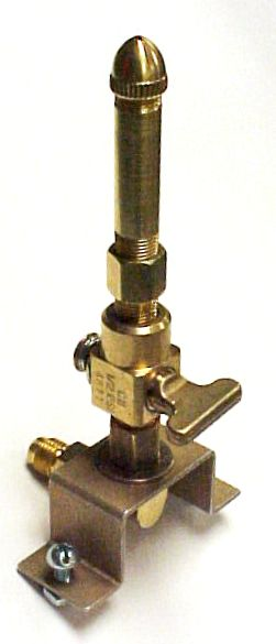 Single Open Flame Burner, Valve & Mounting Bracket