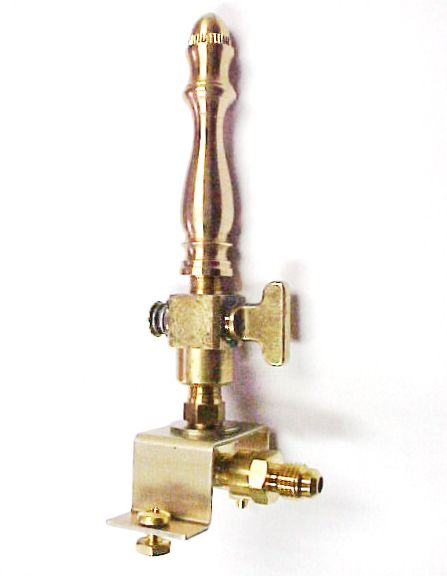 Brass Spindle (SP101) - Open Flame Burner, Valve & Mounting Bracket