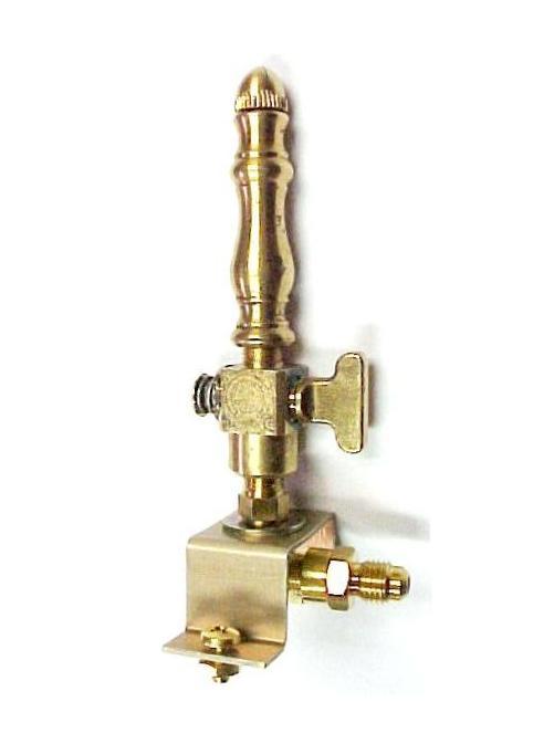 Brass Spindle (SP107) - Open Flame Burner, Valve & Mounting Bracket