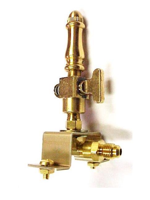 Brass Spindle (SP108) - Open Flame Burner, Valve & Mounting Bracket