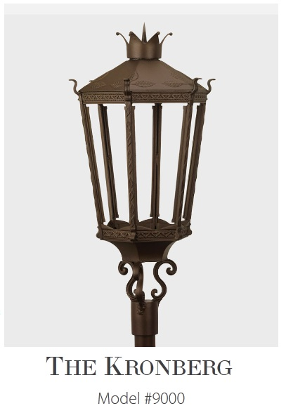 Kronberg Model 9000 - Estate Series Cast Aluminum Gas or Electric Lantern