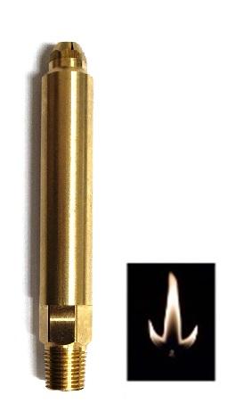 """Legendary Lighting-3"""" NG Open Flame Burner-Maple Leaf Flame"""