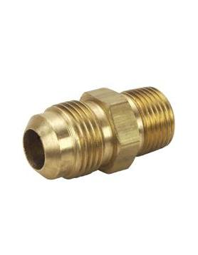"""Brass Male 45º Flare Connector – 1/4 Flare x 1/8"""" NPT(M-M)"""