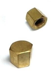 """Brass Pipe Cap – 1/4"""" Female Pipe Thread"""