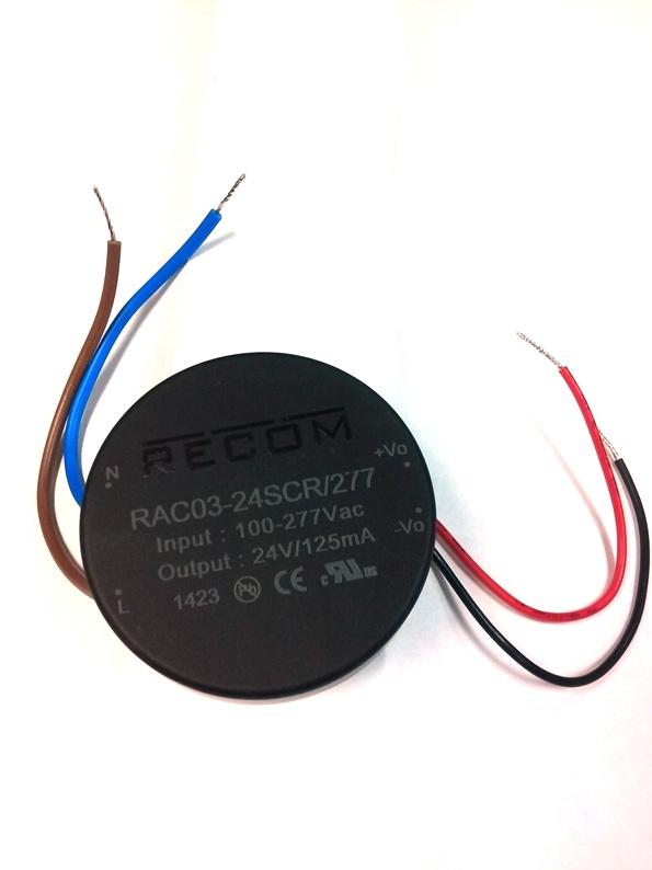 RECOM 120V to 24VDC 3W PS