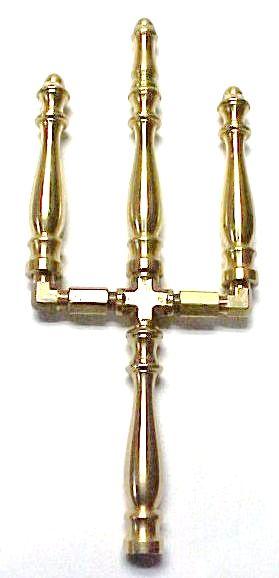 Brass Spindle (SP1008N) - 3 Stem Tiered Open Flame Burner