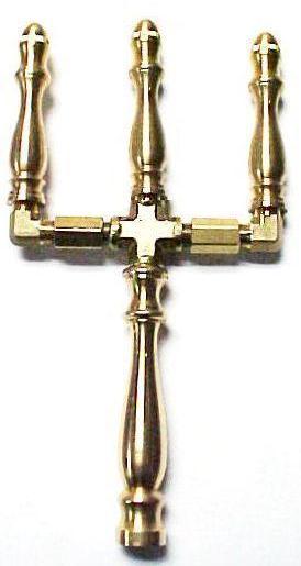 Brass Spindle (SP101N) - 3 Stem Open Flame Burner