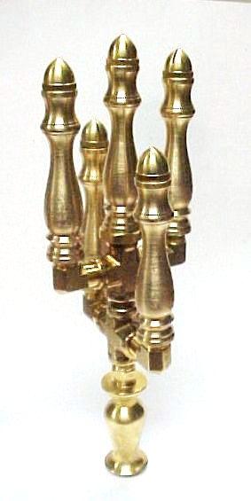 Brass Spindle (SP101C) - 5 Stem - 2 Tiered Candelabra Open Flame Burner