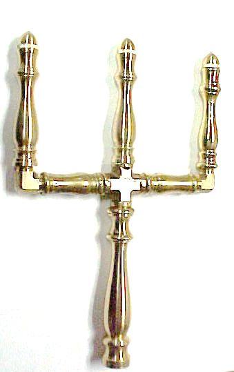 Brass Spindle (SP101W) - 3 Stem Open Flame Burner