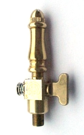 Brass Spindle (SP108) - Single Open Flame Burner & Valve Combo