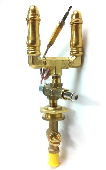 (SP108DBL-VLVDT) - Double Open Flame Burner, Safety Shut-off & Valve