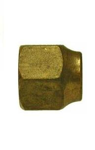 Brass 45º Flare Nut, FORGED SHORT – 3/8""