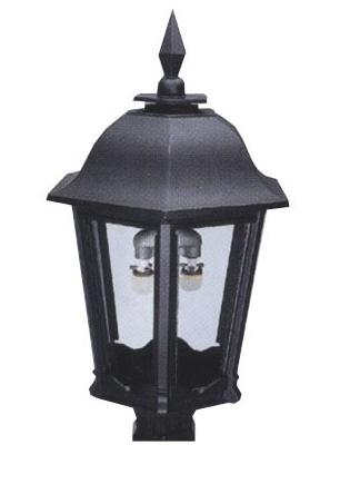 Aluminum post mount gas lights