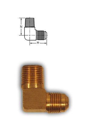 Male Elbow - 1/8 M NPT x 1/4 Flare