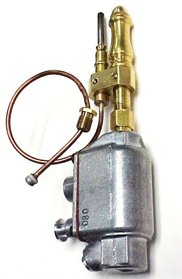 Gas Light Thermal Safety Shutoff Valve and Burner Kit