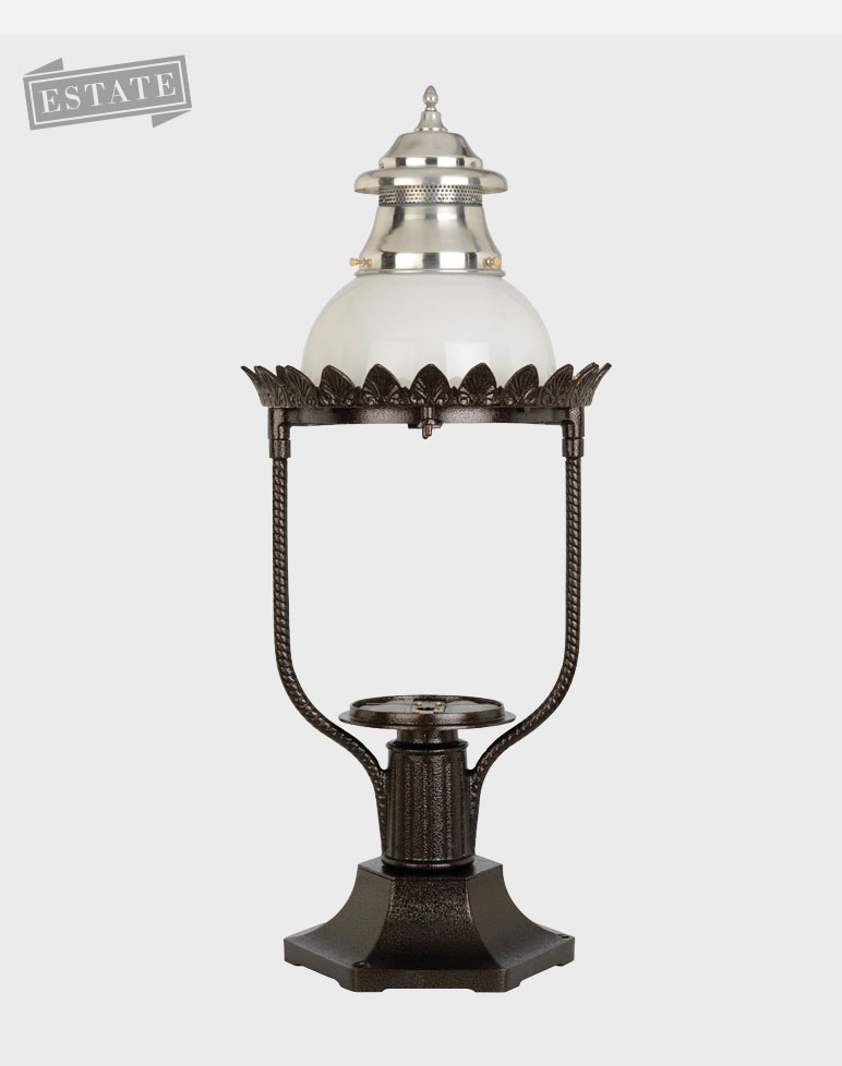 Victorian Model 4200 - Estate Series Pier Mount Gas or Electric Lamp