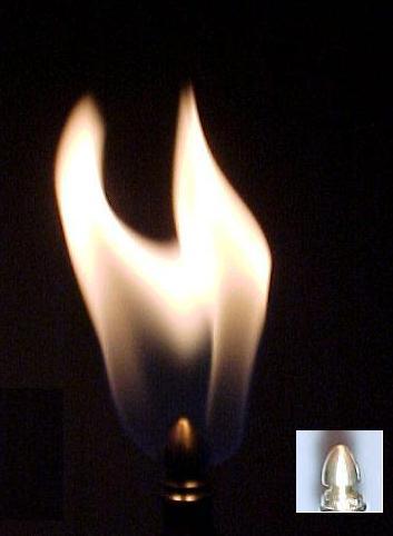 Acorn Burner Tip - Fish Tail Flame (NG)