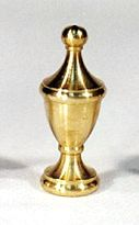 Gas Light Finial - Urn Style, Solid Brass