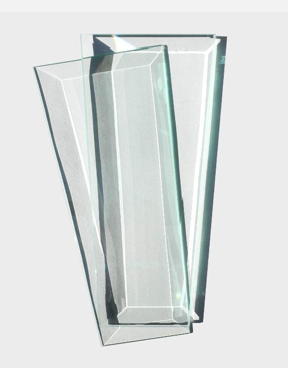 Tempered Beveled Glass Pane - 4PK