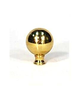 Gas Light finial - Solid Brass Ball Finial - 1 1/4""