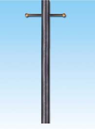 """7\'9\"""" Steel Gas Light Post with Plastic Ladder Rest"""
